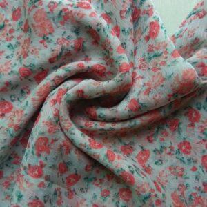 Printed Square Hijab Cherry Blossom
