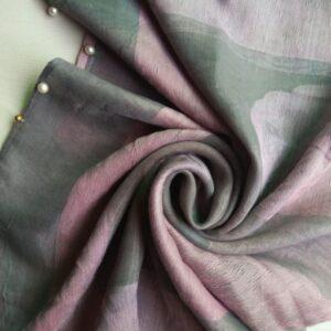 Organza Stole Grey Pink