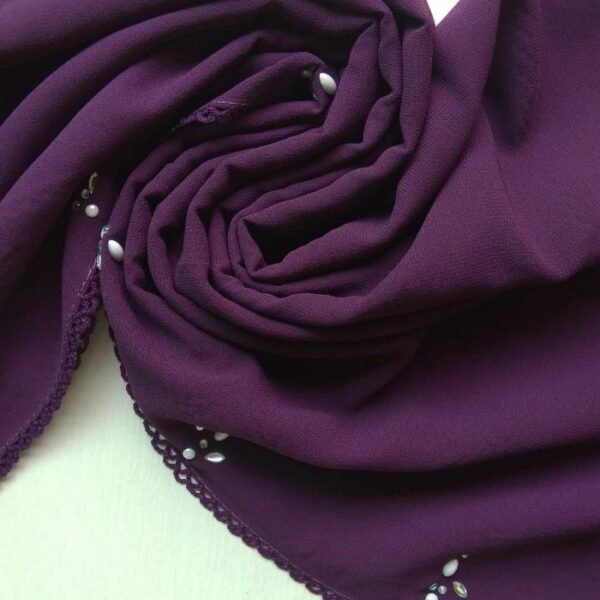 Deluxe Chiffon Stole Purple