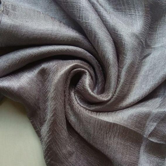 Shimmer Silk Scarf Metallic Silver