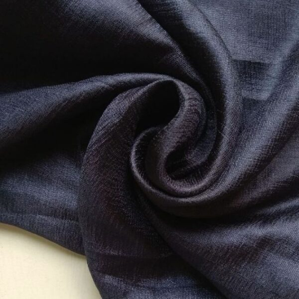Shimmer Silk Scarf Navy